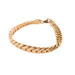 دستبند طلا 18عیار گالری طلاچی مدل زنجیر پهن thumb