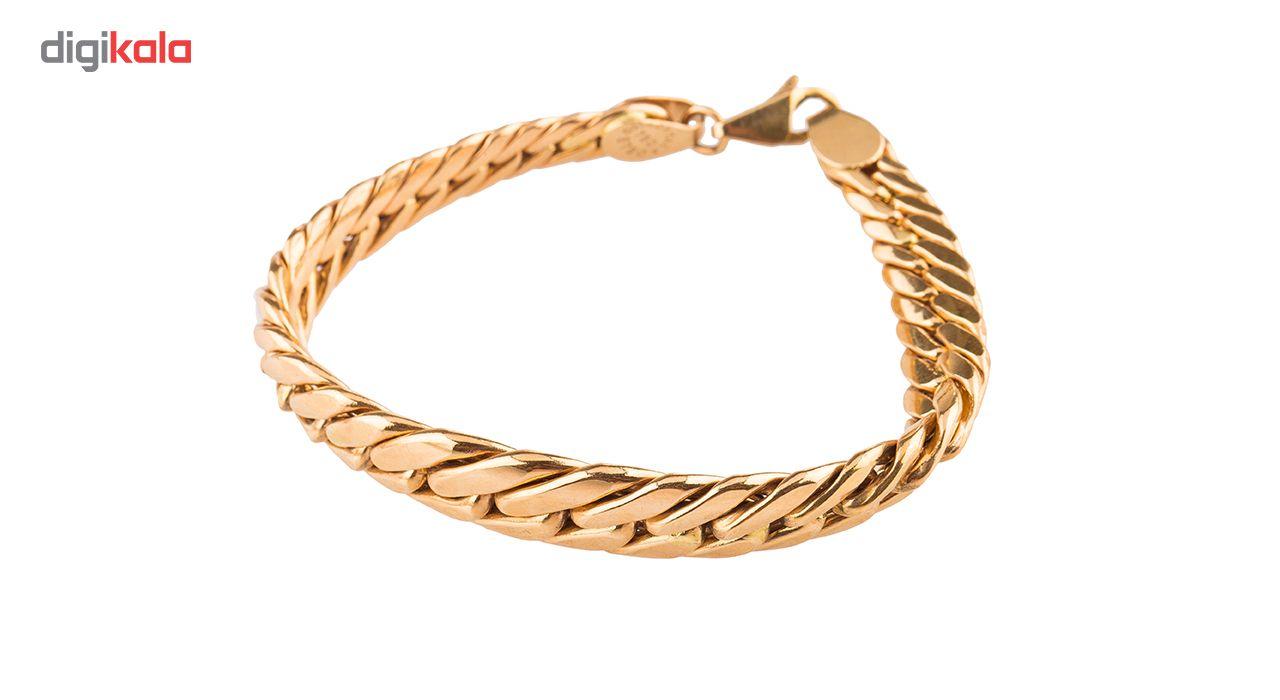 دستبند طلا 18عیار گالری طلاچی مدل زنجیر پهن main 1 1