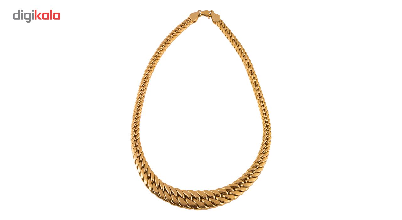 زنجیر طلا 18 عیار گالری طلاچی مدل پهن