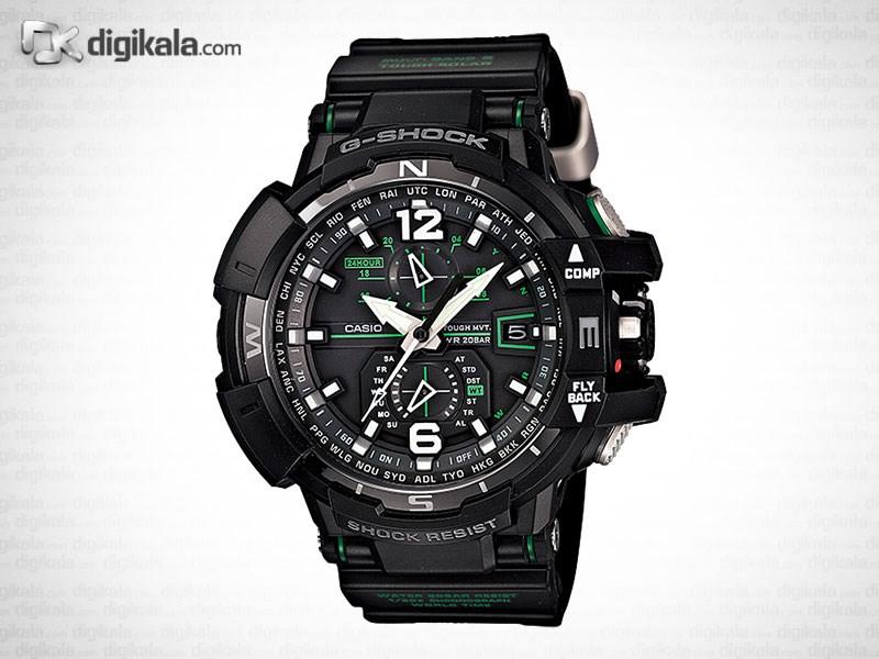 خرید ساعت مچی عقربه ای مردانه کاسیو جی شاک GW-A1100-1A3DR