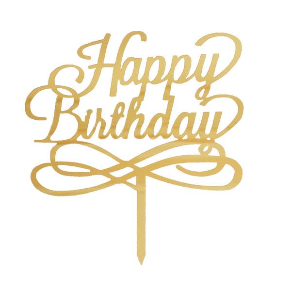 تاپر کیک تولد هپی مدل happy birthday