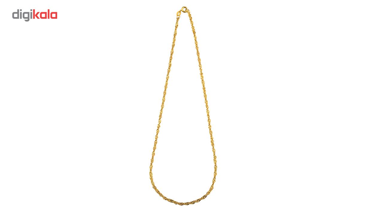 زنجیر طلا 18 عیار گالری طلاچی مدل دیسکو