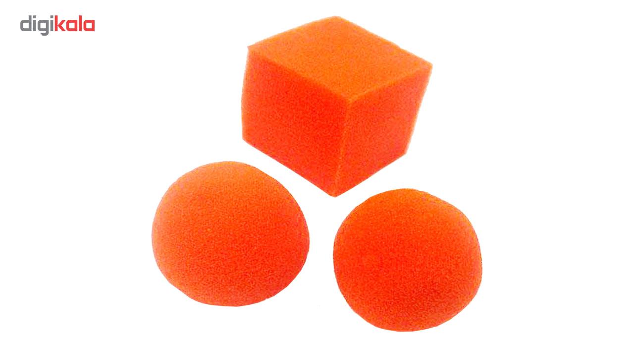ابزار شعبده بازی مدل تبدیل مکعب اسفنجی به 3توپ کد DSK 223
