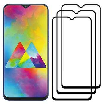 محافظ صفحه نمایش مدل FCG مناسب برای گوشی موبایل سامسونگ Galaxy M20 بسته سه عددی