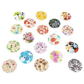 دکمه رایمون کالا مدل گل های بهار 24 عددی