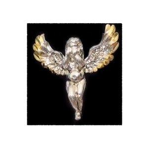 آویز گردنبند نقره طرح فرشته  کد S104