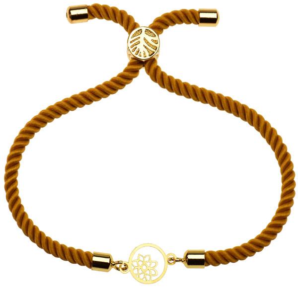 دستبند طلا 18 عیار دخترانه کرابو طرح گل و ستاره مدل Krd1148