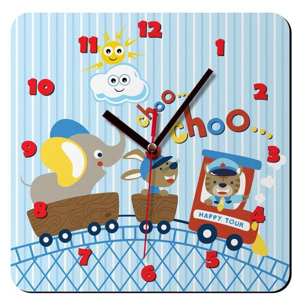 ساعت دیواری کودک ژیوار طرح قطار کد 52