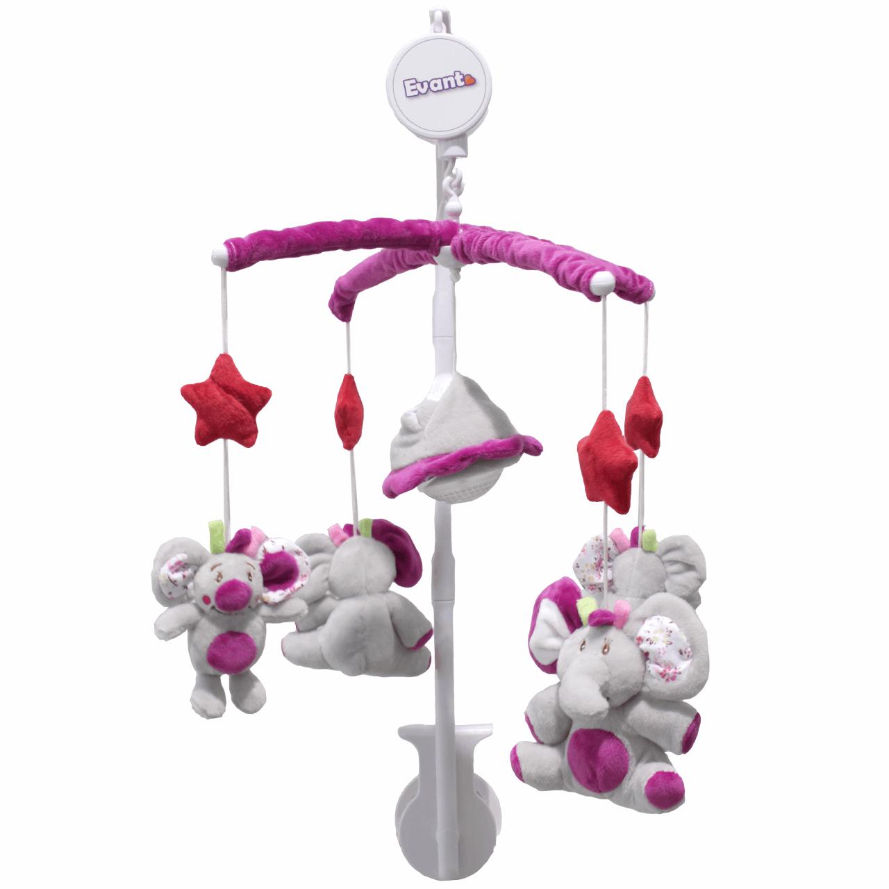 آویز تخت اوانت مدل ElephantViolet