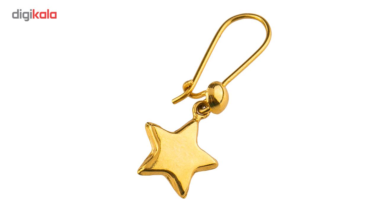 گوشواره طلا 18عیار گالری طلاچی مدل آویز ستاره