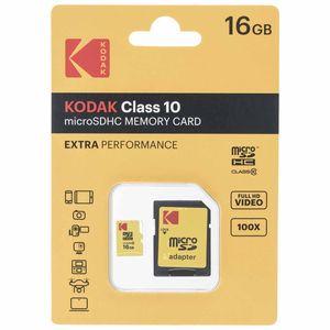 کارت حافظه microSDHC کداک مدل EXTRA PERFORMANCE کلاس 10 همراه با آداپتور ظرفیت 16 گیگابایت