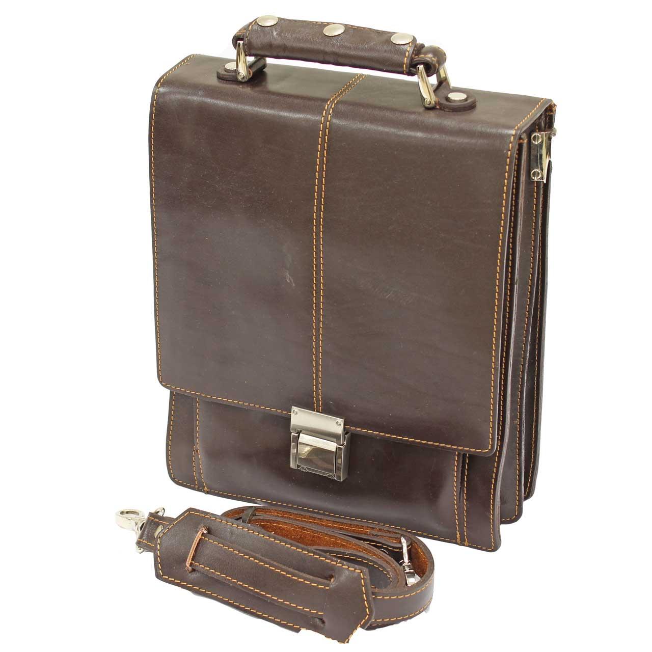 کیف اداری چرم طبیعی آروین چرم مدل AR-802 سایز 2