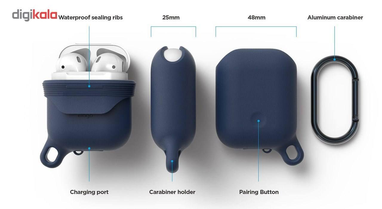 کاور محافظ سیلیکونی ضد آب الاگو مناسب برای کیس اپل AirPods main 1 4