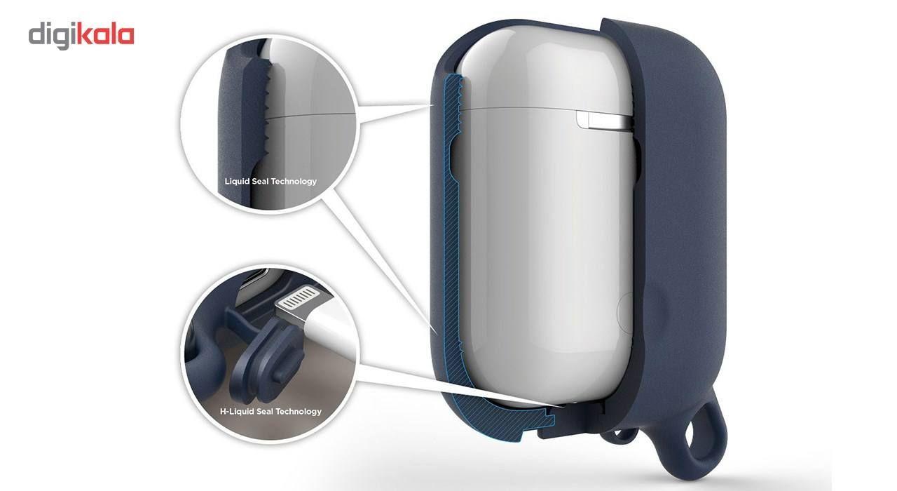 کاور محافظ سیلیکونی ضد آب الاگو مناسب برای کیس اپل AirPods main 1 5
