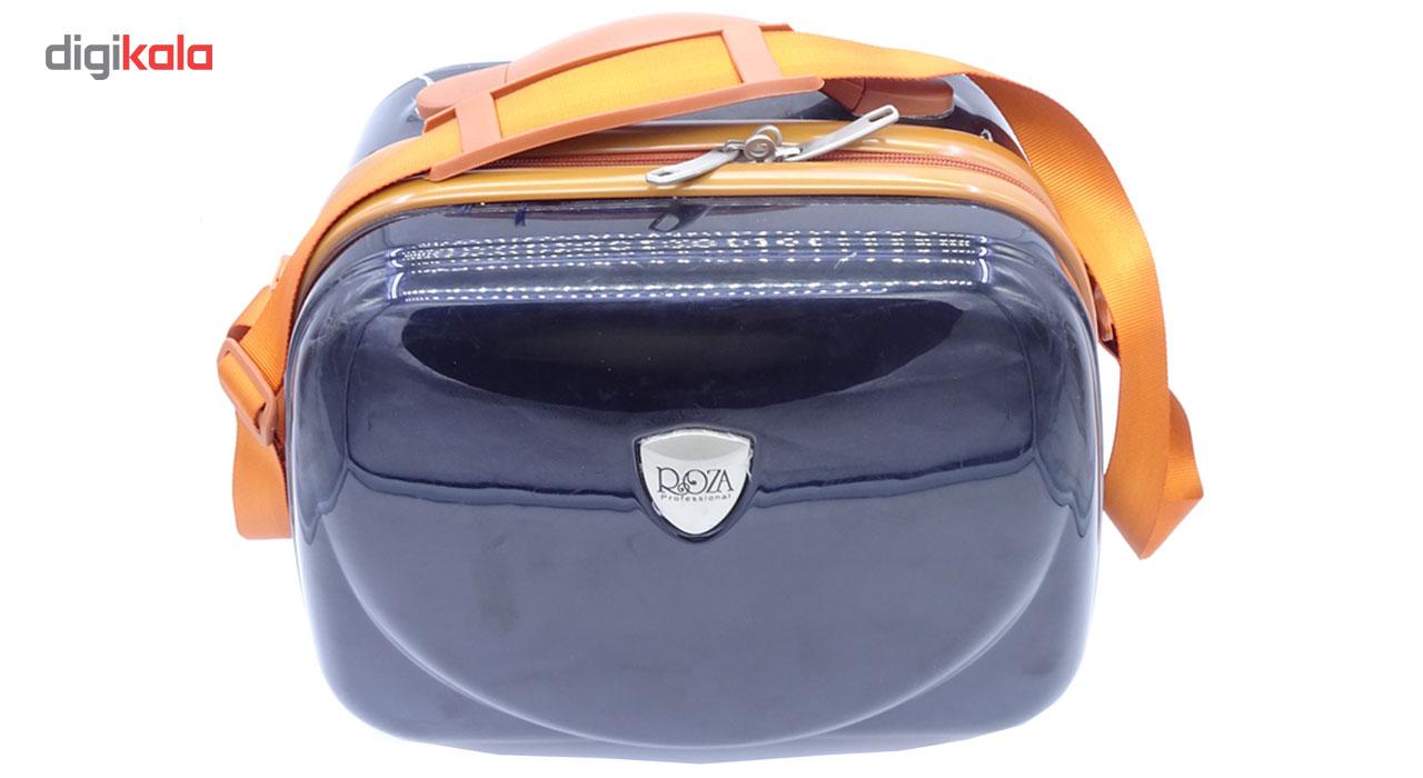 کیف لوازم آرایش نه دلگان مدل روزا