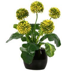 گلدان دکوری به همراه گل مصنوعی هومز مدل 50105