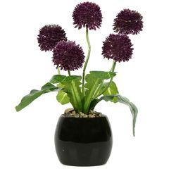 گلدان دکوری به همراه گل مصنوعی هومز مدل 50107