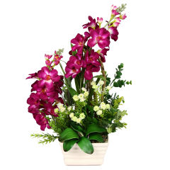 گلدان دکوری به همراه گل مصنوعی هومز مدل 50132