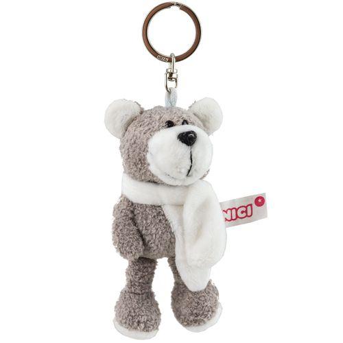 جاسوئیچی عروسکی نیکی مدل خرس شالگردن دار خاکی