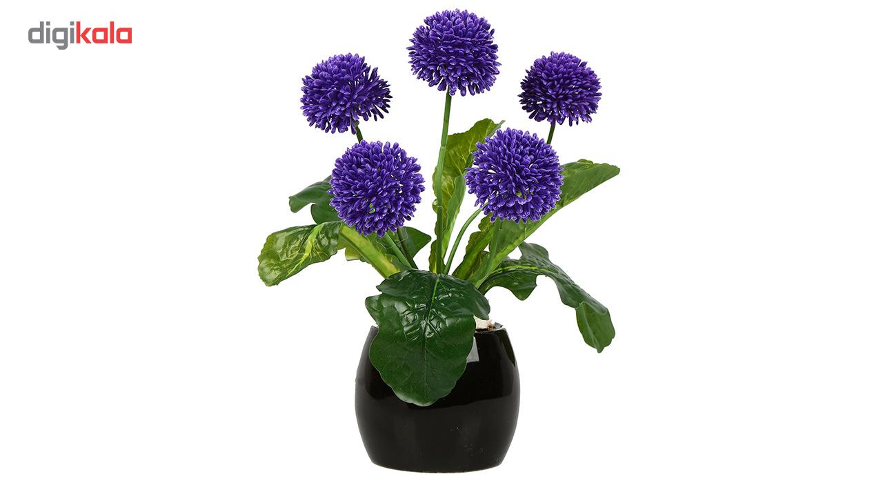 گلدان دکوری به همراه گل مصنوعی هومز مدل 50103