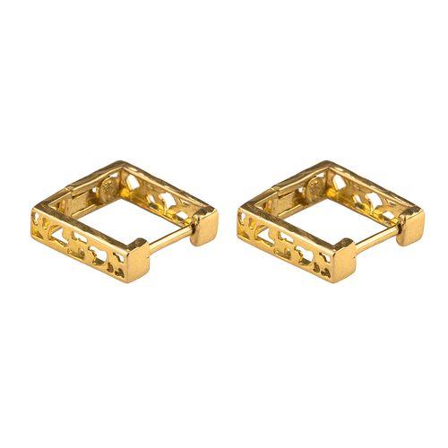 گوشواره طلا 18عیار گالری طلاچی مدل مربع1
