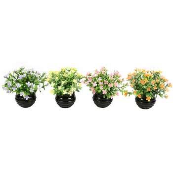 گلدان دکوری به همراه گل مصنوعی هومز مدل 41475 مجموعه 4 عددی
