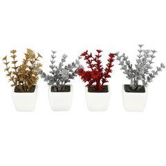 گلدان دکوری به همراه گل مصنوعی هومز مدل30228 مجموعه 4 عددی