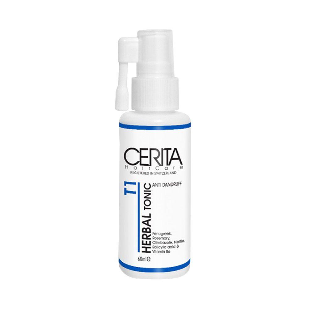 تونیک تقویت کننده مو سریتا مدل Herbal حجم 60 میلی لیتر