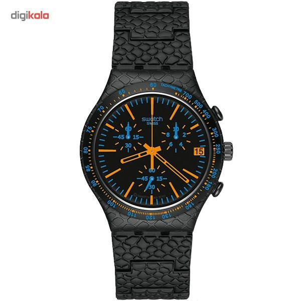 ساعت مچی عقربه ای مردانه سواچ مدل YCB4017AG -  - 2