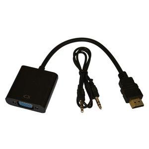 مبدل HDMI به VGA به همراه کابل AUX