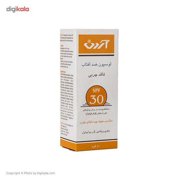 خرید                      لوسیون ضدآفتاب آردن SPF30 فاقد چربی حجم 50 گرم