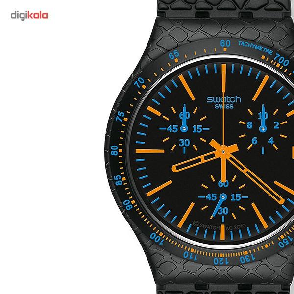 ساعت مچی عقربه ای مردانه سواچ مدل YCB4017AG -  - 1