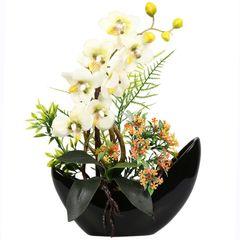 گلدان دکوری به همراه گل مصنوعی هومز مدل 50023