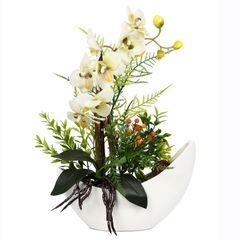 گلدان دکوری به همراه گل مصنوعی هومز مدل 50027