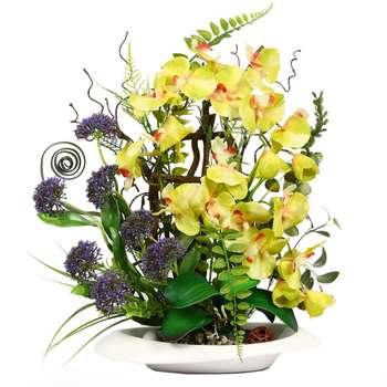 گلدان دکوری به همراه گل مصنوعی هومز مدل 50032