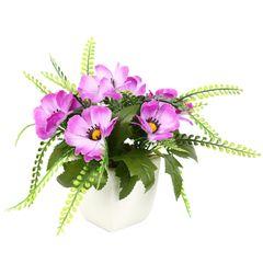 گلدان دکوری به همراه گل مصنوعی هومز مدل 50043