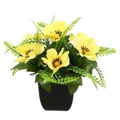گلدان دکوری به همراه گل مصنوعی هومز مدل 50048
