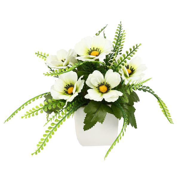 گلدان دکوری به همراه گل مصنوعی هومز مدل 50049