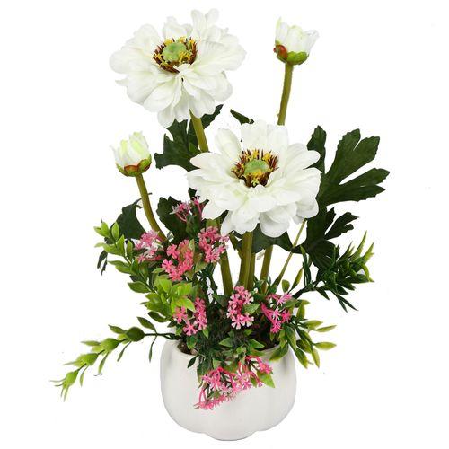 گلدان به همراه گل مصنوعی هومز مدل50056
