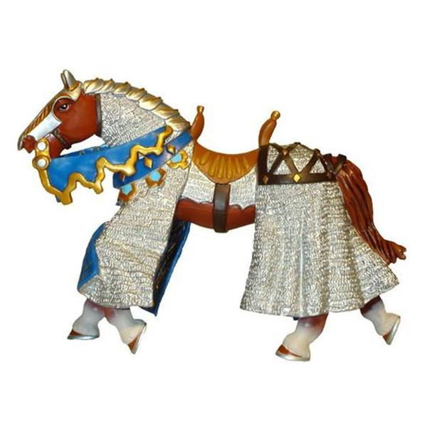فیگور پاپو مدل اسب زره پوش آبی