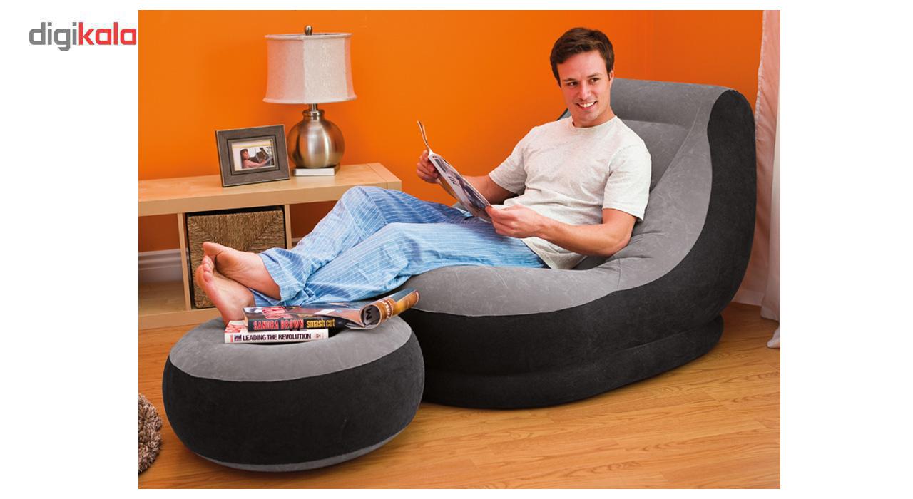 فروش صندلی بادی اینتکس مدل دوتکه همراه زیرپایی