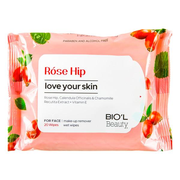 دستمال مرطوب بیول مدل Rose HiP بسته 20 عددی