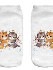 جوراب بچگانه طرح  بچه گربه کد 56 -  - 1