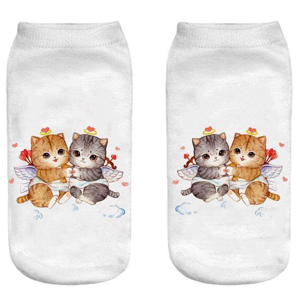جوراب بچگانه طرح  بچه گربه کد 56 -  - 3