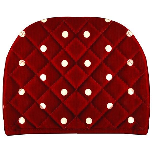 روقوری کتان رزین تاژ طرح خالدار قرمز