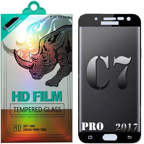 محافظ صفحه نمایش شیشه ای مدل Full Coverage 5D 2017 TOTO مناسب برای گوشی موبایل سامسونگ Galaxy C7 Pro