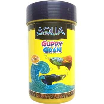 غذای ماهی آکوا مدل Guppy Gran حجم 100 میلی لیتر