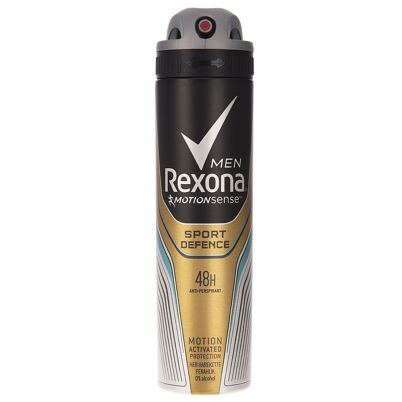 اسپری ضد تعریق مردانه رکسونا مدل Sport Defence حجم 150 میلی لیتر   Rexona Sport Defence Spray 150ml For Men