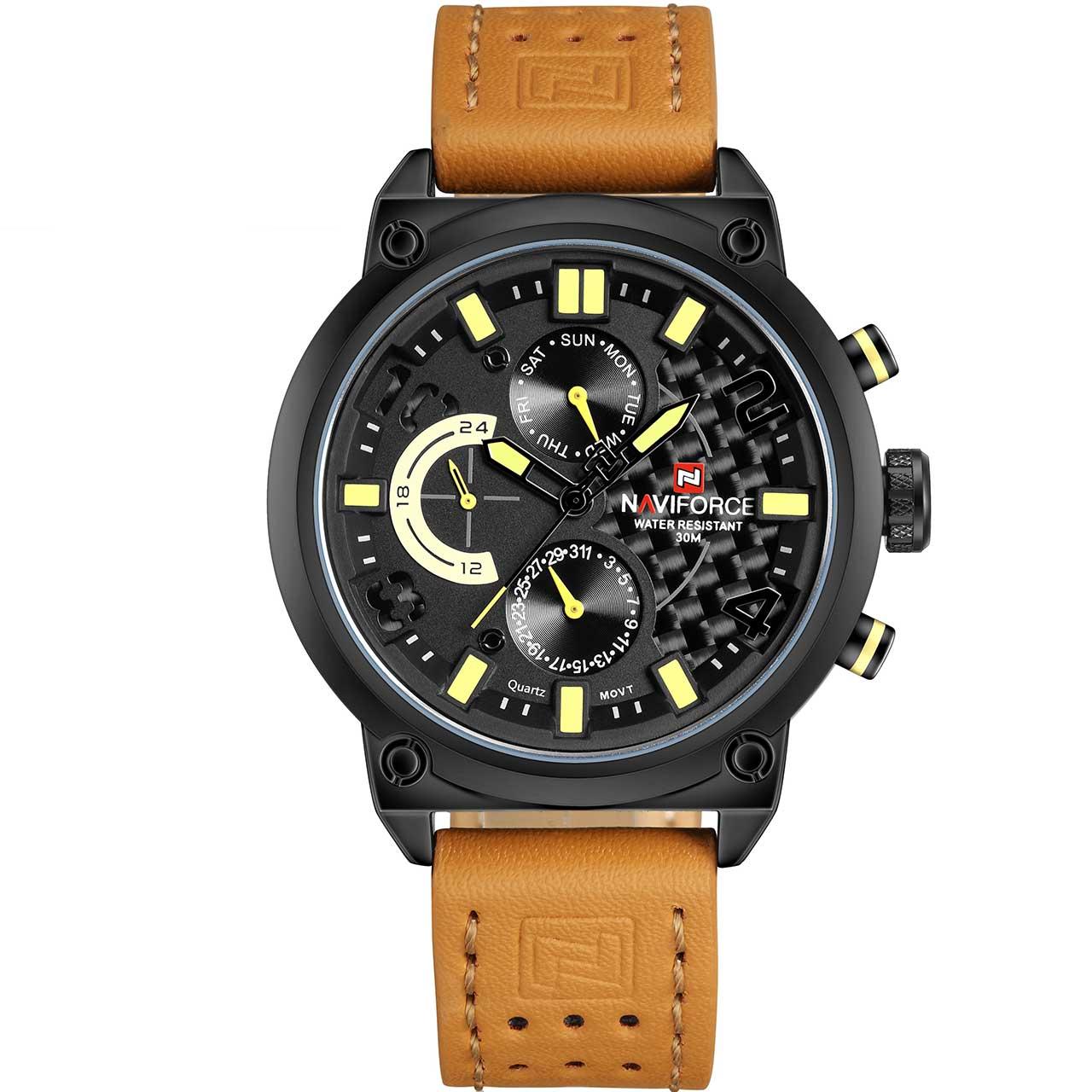تصویر ساعت مچی عقربه ای مردانه نیوی فورس مدل NF9068LBYBN