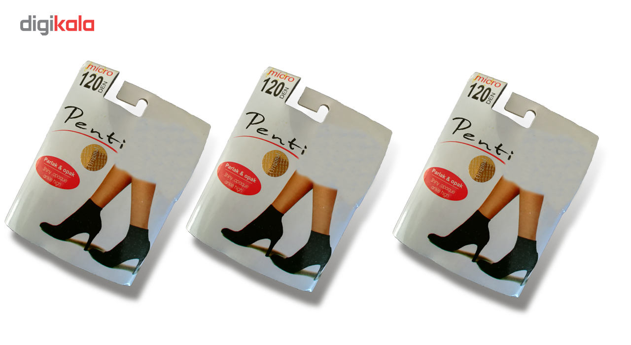 جوراب ساق کوتاه پنتی 120Den بسته 3 عددی main 1 1
